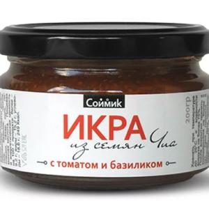 "Икра из семян чиа ""с томатом и базиликом"" Соймик"