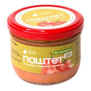 """Закуска """"Паштет из семечек томатный с зеленью"""" Volko Molko, 200 г"""