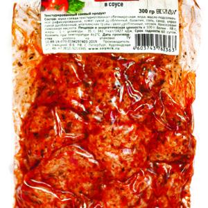 """Соевое мясо Шницель в соусе """"томат и базилик"""" Соймик"""