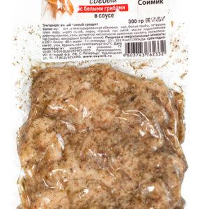 """Соевое мясо Шницель в соусе """"с белыми грибами"""" Соймик"""