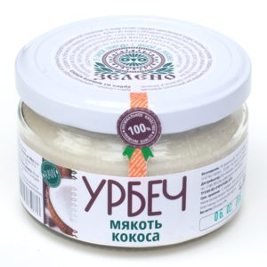 """Урбеч из мякоти кокоса """"Зелено"""""""