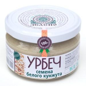 "Урбеч из семян кунжута белого ""Зелено"""