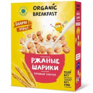 Готовый завтрак Компас Здоровья Ржаные шарики, коробка