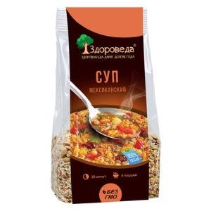 """Суп Мексиканский с рисом и кукурузой """"Здороведа"""", 250 г"""