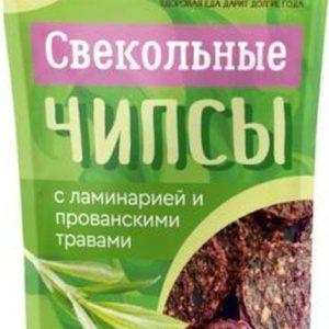 """Свекольные чипсы с ламинарией и прованскими травами, """"Здороведа"""" 100 г"""