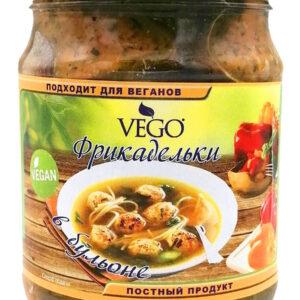 Фрикадельки жареные в ореховом бульоне Vego