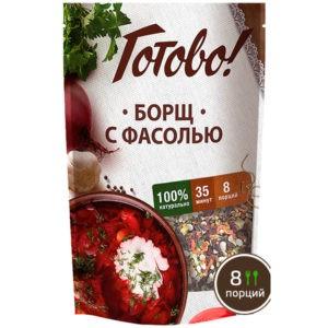 """Борщ с фасолью """"Готово"""", 130 гр"""