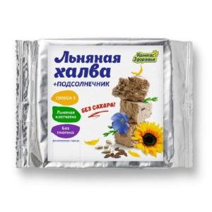 "Халва подсолнечно-льняная ""Компас Здоровья"", 250 гр"