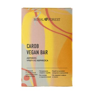 Шоколад ROYAL FOREST Carob Vegan Bar Абрикос, урбеч из абрикоса
