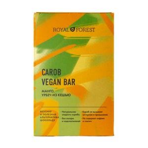 Шоколад ROYAL FOREST Carob Vegan Bar Манго, урбеч из кешью