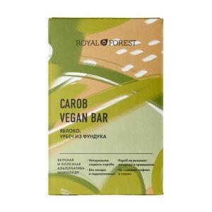 Шоколад ROYAL FOREST Carob vegan bar Яблоко, урбеч из фундука
