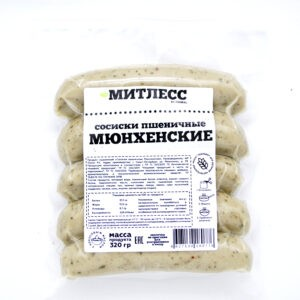 """Колбаски """"Митлесс"""" Мюнхенские постные, 350 гр"""