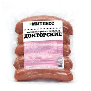 """Колбаски """"Митлесс"""" Докторские постные, 350 гр"""