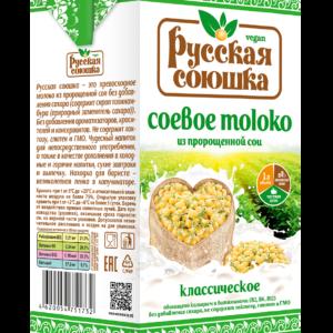"""Соевое молоко """"Русская союшка"""", 1л"""