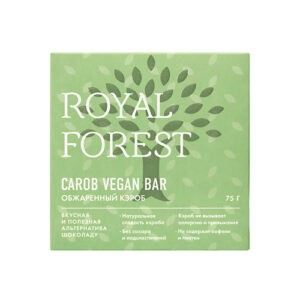 """Шоколад CAROB VEGAN bar """"Royal Forest"""" из обжаренного кэроба"""