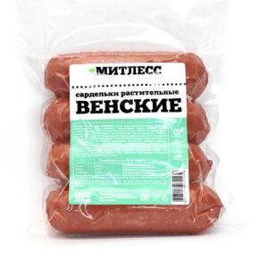 """Сардельки """"Митлесс"""" Венские постные, 400 гр"""