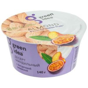 Десерт Green Idea миндальный с йогуртовой закваской и соками персика и маракуйи 140 г