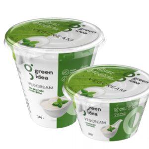 Крем со вкусом сметаны Vegcream Green idea 180г