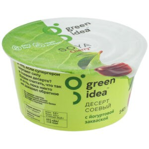 Десерт Green Idea соевый с йогуртовой закваской и соком вишни 140 г
