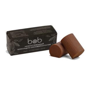 """Батончик шоколадно-ореховый, низкоуглеводный """"Bob"""", 50 гр"""