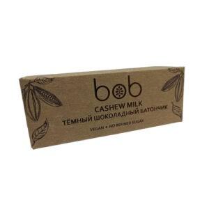 """Батончик шоколадно-ореховый, тёмный cashew milk """"Bob"""", 50 гр"""