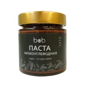 """Паста низкоуглеводная шоколадно-фундучная """"Bob"""", 200гр"""