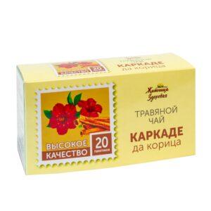 """Травяной чай Каркаде с корицей, пакетированный """"Житница здоровья"""""""