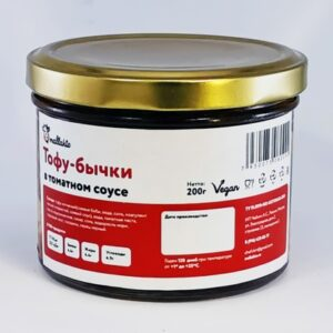 """Тофу-бычки в томатном соусе """"Mallakto"""", 200 гр"""