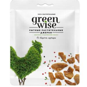 Растительные джерки Greenwise со вкусом курицы 36 г