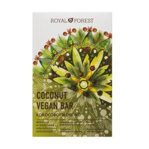 """Шоколад ROYAL FOREST Vegan Coconut Bar """"Кокосовое молоко"""""""