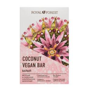 Шоколад белый ROYAL FOREST Vegan Coconut Bar