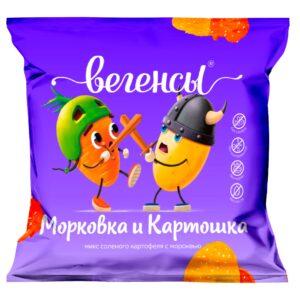 "Нечипсы Картошка с морковью ""Вегенсы"", 50гр"