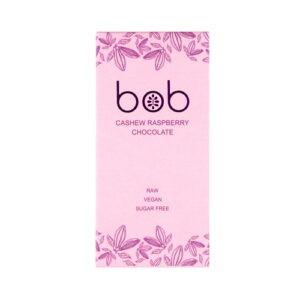 """Шоколад белый с малиной, на молочке из кешью """"Bob"""""""