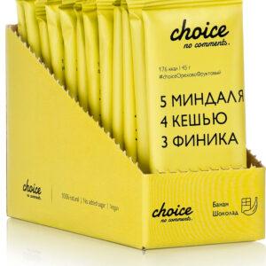 "Батончик фруктово-ореховый ""CHOICE NO COMMENTS"" Банан-шоколад, 45 гр"