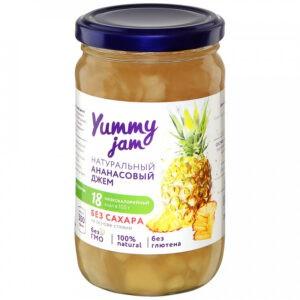 """Джем """"Yummy jam"""" Ананасовый без сахара, 350 г"""