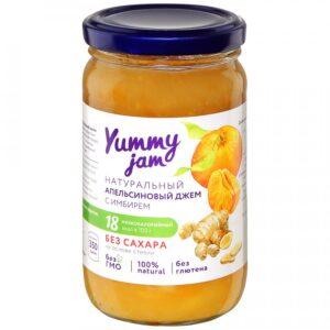 """Джем """"Yummy jam"""" Апельсиновый с имбирем без сахара, 350 г"""