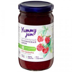 """Джем """"Yummy jam"""" Малиновый без сахара, 350 г"""