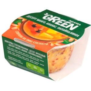 """Десерт манго, ананас, папайя и киноа """"Agama Green"""", 110 гр"""