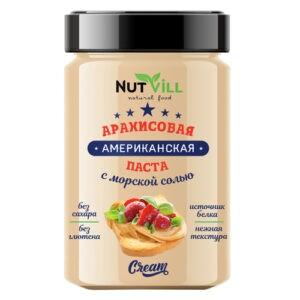 """Паста """"Американская"""" арахисовая с морской солью, без сахара """"NutVill"""", 180 г"""