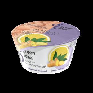 """Десерт Green Idea миндальный с йогуртовой закваской """"Лимон-имбирь"""" 140 г"""