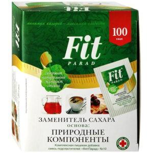 "Заменитель сахара ""Fit parad"" №10, 100 саше по 0.5 гр"