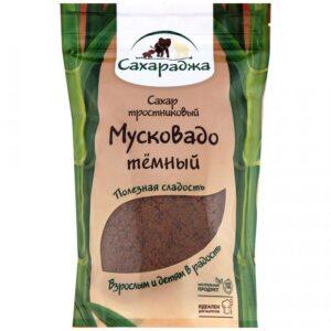 """Сахар тростниковый Мусковадо темный """"Сахараджа """", 450 г"""