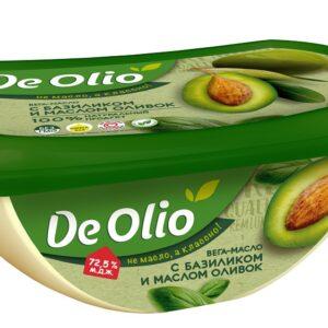 Вега-масло с базиликом и маслом оливок «De Olio», 220 гр