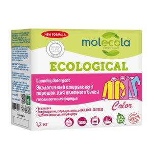 """Стиральный порошок для цветного белья с растительными энзимами """"Molecola"""", 1200 гр"""