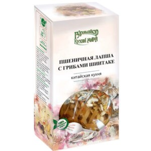 "Пшеничная лапша с грибами Шиитаке ""Кухни мира"", 220 гр"