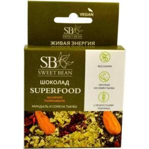 "Шоколад Миндаль и семена тыквы ""SuperFood"", 45 гр"